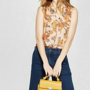 3/$30 A New Day Floral Sleeveless Sheer Blouse